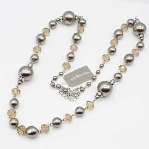 Cookie Lee bead and crystal necklace